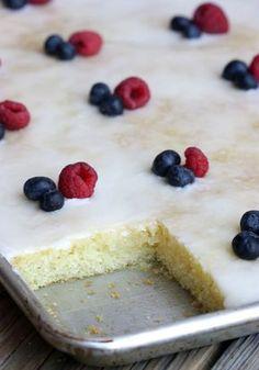 Almond Sheet Cake - YuM!!