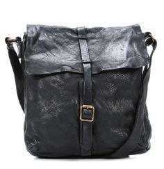 Lavata Cross Body Bag Leather black 28 cm Borse In Pelle d1229afd0b0