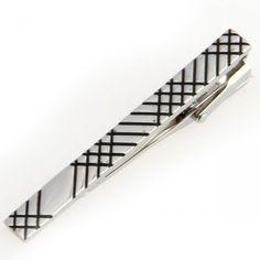 1ee5886183 Simple Silver Striped Tie Clip Accessoires De Mode, Boutons, Simple,  Boutons De Manchette