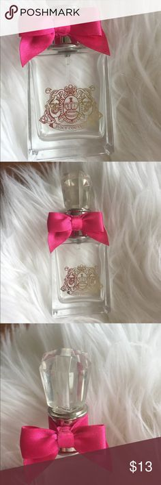 Juicy Couture Viva La Juicy Empty Bottle Empty Juicy Couture perfume bottle! Thought it was too beautiful to throw out, just don't know how to repurpose it! You can upcycle or repurpose this bottle as decoration! Or use as a high end spray bottle! Juicy Couture Makeup
