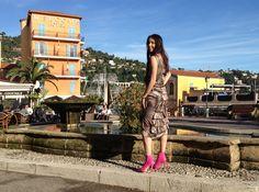 Lorena Baricalla, ambassadrice du label CréaZen, by Sophie Laine en robe en soie Bohémian Collection