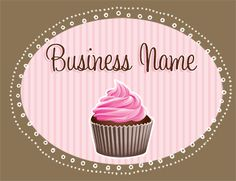 Premade Logos to go Premade Pink Cupcake Logo Sweet Cupcakes, Pink Cupcakes, Yema Cake, Cupcake Logo, Bakery Logo Design, Baking Business, Brand Building, Banner Design, Sweet Tooth