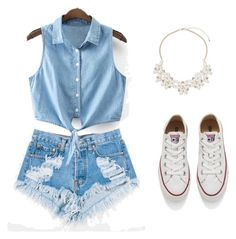 """""""Untitled #2"""" by maida-962 ❤ liked on Polyvore featuring Levi's, Converse and Dorothy Perkins"""