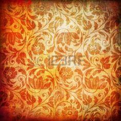 Oranger floraler Hintergrund