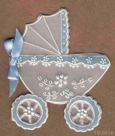 Como hacer tarjetas en papel pergamino para baby shower - Imagui