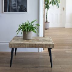 Small parquet coffee table
