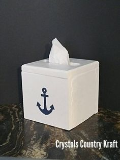 Boys Bathroom Decor, Western Bathroom Decor, Nautical Bathrooms, Bathroom Storage, Kitchen Decor, Rustic Wood Box, Rustic Decor, Coastal Decor, Tissue Box Covers