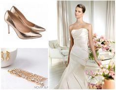 złota biżuteria do ślubu, Panna Młoda w złocie, złote dodatki do ślubu