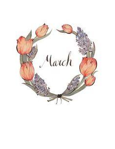 March Wreath 8.5x11 by KelseyGarrityRiley on Etsy, $20.00