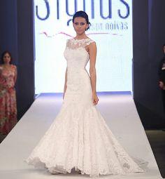 Vestido de noiva estiloso.