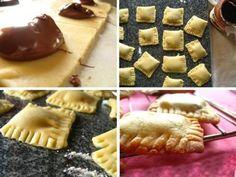 Mini napolitanas de chocolate con nutella