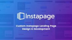 Custom instapage Landing Page Design & Development Service