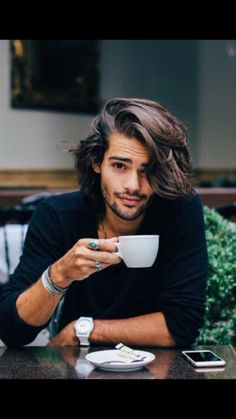There are 30 Curly Mens Hairstyles 2014 - 2015 and these pictures so fresh and trendy. You should try these most attractive mens hairstyles. Pretty People, Beautiful People, Man Bun, Hair And Beard Styles, Mens Long Hair Styles, Haircuts For Men, Gorgeous Men, Character Inspiration, Sexy Men