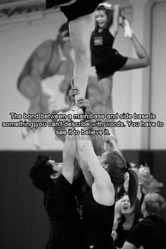 cheer quotes Confessions Open Soon! Cheer Qoutes, Cheerleading Quotes, School Cheerleading, Cheer Stunts, Cheerleading Uniforms, Cheer Base, Gabriel, Cheer Workouts, Gymnastics Workout