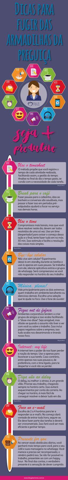 Seja produtivo: dicas para fugir das armadilhas da preguiça - Blog da Mimis #blogdamimis #produtivo #foco #preguiça #homeoffice #office #trabalho #concentração #time