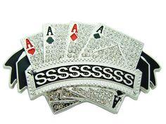 【HIPHOP BUCKLES】【ヒップホップ・バックル】4カード QUAD A'S シルバー 【ポーカー】【レゲエ】【ヒップホップ】【アクセサリー】【ブリンブリン・ジュエリー】【HIP HOP JEWELRY】【銀】【SILVER】【トランプ】【poker】【楽天市場】