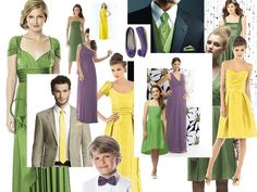 Easter Colours : PANTONE WEDDING Styleboard : The Dessy Group