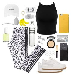 """""""athletic .1"""" by kira-mateo ❤ liked on Polyvore featuring Forever 21, adidas, NIKE, Dot & Bo, Miss Selfridge, Glitzy Rocks, Kate Spade, LORAC, MAC Cosmetics and beautyblender"""