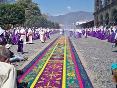 street carpet during santa semana