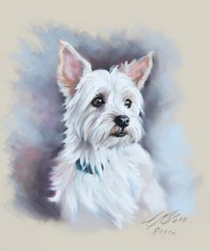 retrato al pastell de mascota por BograArt en Etsy