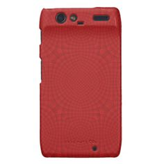 Red abstract wood pattern droid RAZR case