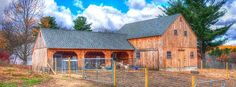 Our 24'x 36' post & beam 1-1/2 story barn and our 22'x 36' post & beam carriage house. www.countrycarpenters.com