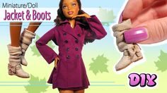 Hey guys! Today we're making some DIY doll/barbie clothes :) In this video I'm going to show you how to make a fall doll jacket and boots from fabric and pol...