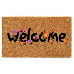 Callowaymills Callowaymills 102171729 Spring Welcome Doormat at Lowe's. Made of natural coir, a dense fiber that is naturally mold and mildew resistant. Coir is a renewable resource that is durable and coarse, excellent for Vinyl Style, Welcome Door Mats, Coir Doormat, Clean Shoes, Home Decor Shops, Mold And Mildew, Baby Clothes Shops, Baby Shop, Indoor Outdoor