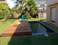 Terrasse mobile pour piscine fabriquée par Octavia - http://abris-piscines-octavia.fr #Terrasse #mobile #TerrasseMobile
