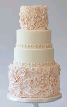Modern wedding cake that in also cute for over occasions.