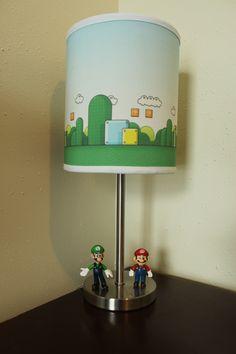 MarioLand Lamp!  thin metal lamp base to hold super mario bros figurines.