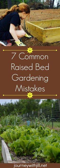 7 Common Raised Bed Gardening Mistakes #GardeningIdeas