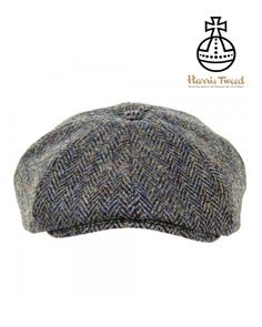9b0f27fd44c48 Harris Tweed Baker Boy Cap - Dark Green Herringbone