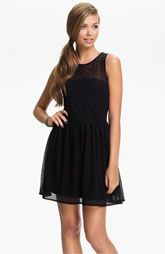 Frenchi® Sheer Stripe Dress (Juniors)