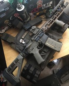 My firearms final form Military Weapons, Weapons Guns, Guns And Ammo, Tactical Rifles, Firearms, Tactical Survival, Shotguns, Airsoft, Gun Vault