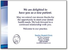 Dental thank you patient cards new patient referral program bel dental thank you patient cards dental thank you cards create patient loyalty smartpractice dental expocarfo Image collections