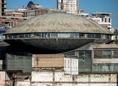 """The Hall for lectures and cinema of the Institute of Scientific and Technical Information, (aka """"Kyiv flying saucer"""") Kyiv, Ukraine. Built…"""