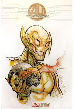 Ultron vs. Cyclops by Brandon Peterson *