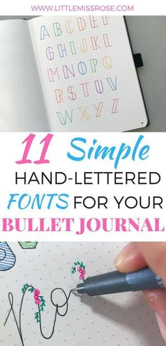 11 Simple Hand-Lettered Fonts For Your Bullet Journal Fonts & Lettering Bullet Journal Inspo, Bullet Journal Spread, Bullet Journals, Bullet Journal Writing, Bullet Journal Layout, Bullet Journal Index Examples, Bullet Journal Outline, Bullet Journal Inspiration Creative, Bullet Journal Birthday Tracker