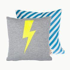 Ferm Living neon lightning cushion - Live Like The Boy