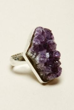 Amethyst Cluster Ring $48
