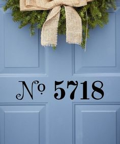 I want this for our front door! What a cute way to display your house number!