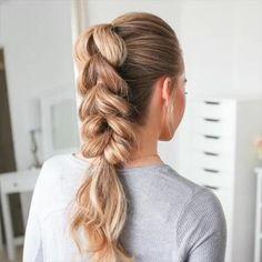 Easy Hairstyles For Long Hair, Girl Hairstyles, Active Hairstyles, Loose Braid Hairstyles, Side Braids For Long Hair, Hairstyles Videos, Scrunched Hairstyles, Hairstyle For Women, Braided Hairstyles For Long Hair