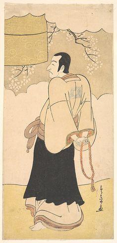 The Actor Ichikawa Danjuro V  Katsukawa Shunshô  (Japanese, 1726–1792)  Period: Edo period (1615–1868) Date: ca. 1790 Culture: Japan Medium: Polychrome woodblock print; ink and color on paper