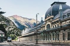 As one of the gateways between France and Spain, Canfranc station, high in the Pyrenees, was designed in an art nouveau style, only to become an elegant anachronism. It was built in 1928, but international traffic ceased in 1970 when a railway bridge on the French side collapsed and wasn't rebuilt.