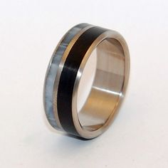 Stone Wedding Rings titanium ring titanium by MinterandRichterDes
