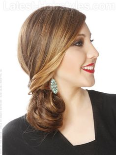 This hairstyle is great for going out to fancy restaurant with family, friends or even that special guy in your life ;)
