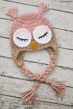 Terrific No Cost Crochet baby hats Ideas Adorable Animal Baby Hats – Free Crochet Patterns Crochet Animal Hats, Crochet Owl Hat, Crochet Kids Hats, Crocheted Baby Hats, Booties Crochet, Crochet Baby Hats Free Pattern, Free Crochet, Baby Hut, Baby Baby