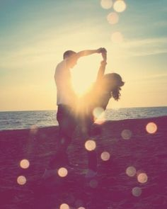 bucket list: go on a walk on the beach and end up dancing under the stars on the sand