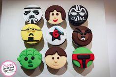 Sweet Cucas and Cupcakes by Rosângela Rolim: Mini Cupcakes Tema STAR WARS
